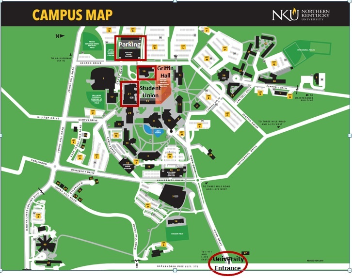 Northern Kentucky University Campus Map.Kymaa Meeting Location